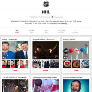 National Hockey League NHL on Pinterest